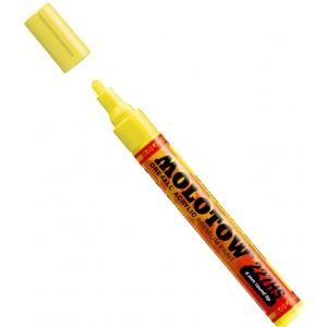 MOLOTOW™ 4mm Round Tip Acrylic Pump Marker Neon Yellow Fluorescent: Yellow, Paint, Refillable, 4mm, Paint Marker, (model M227229), price per each