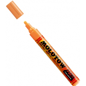MOLOTOW™ 4mm Round Tip Acrylic Pump Marker Neon Orange Fluorescent: Orange, Paint, Refillable, 4mm, Paint Marker, (model M227230), price per each
