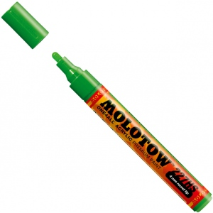 MOLOTOW™ 4mm Round Tip Acrylic Pump Marker Universes Green: Green, Paint, Refillable, 4mm, Paint Marker, (model M227234), price per each