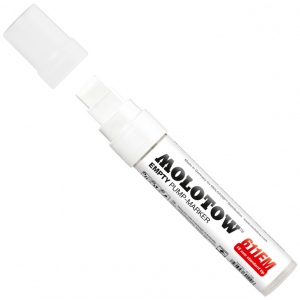 MOLOTOW™ 15mm Wide Tip Empty Marker: Paint, Refillable, 15mm, Paint Marker, (model M611000), price per each