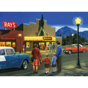 "Royal & Langnickel® Painting by Numbers™ 12 3/4 x 15 3/4 Adult Set Night At The Movies: 12 3/4"" x 15 3/4"", (model PAL41), price per set"