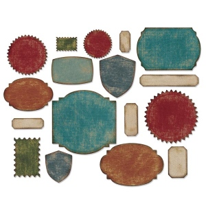 Sizzix - Tim Holtz Alterations - Thinlits Die Set 17 Pack - Labels
