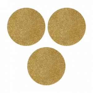 Cosmo Cricket - Show Toppers - Lid Inserts - Gold Glittered