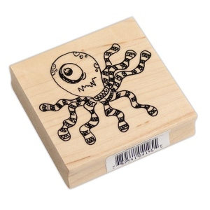 Ranger - Dyan Reaveley - Dylusions - Wood Mounted Stamps - Octopus