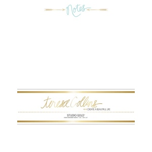 Teresa Collins Designs - Studio Gold - Stationery Pack - Notes
