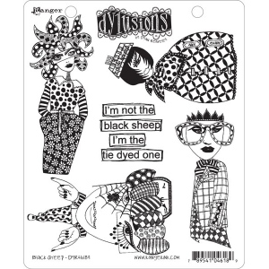 Ranger - Dyan Reaveley - Dylusions - Cling Stamps - Black Sheep