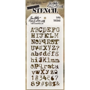 Stampers Anonymous - Tim Holtz - Stencil - Typo