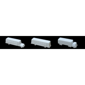 "Wee Scapes™ Architectural Model Vehicles 3-Pack (Truck/Bus): White/Ivory, 3-Pack, 2"" - 3 1/2"", Vehicles, (model WS00397), price per 3-Pack"