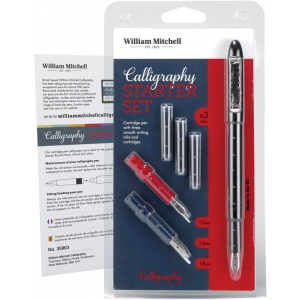 William Mitchell Calligraphy Starter Set: Nibs Included, Pen Holder, Assorted, Pen Holder & Nib Sets, (model WM35903), price per set