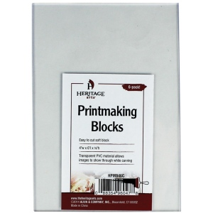 "Heritage Arts™ Clear Printmaking Blocks 6-Pack: Clear, PVC, No, 4"" x 6"", 1/8"", Block, (model HPMB46C), price per pack"