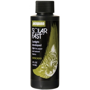 Jacquard SolarFast ™ Avocado Dye 4 oz: Green, Bottle, 4 oz, Sunlight-Developed, (model JSD1-110), price per each