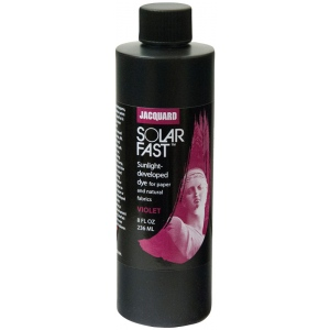 Jacquard SolarFast ™ Violet Dye 8 oz: Purple, Bottle, 8 oz, Sunlight-Developed, (model JSD2-105), price per each