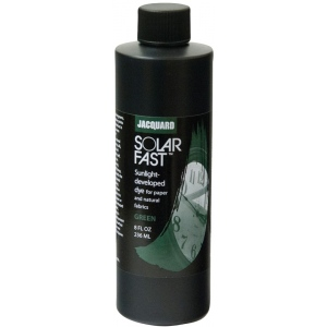 Jacquard SolarFast ™ Green Dye 8 oz: Green, Bottle, 8 oz, Sunlight-Developed, (model JSD2-109), price per each