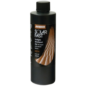 Jacquard SolarFast ™ Sepia Dye 8 oz: Brown, Bottle, 8 oz, Sunlight-Developed, (model JSD2-111), price per each