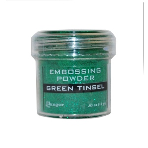 Ranger Specialty 1 Embossing Powders: Green Tinsel
