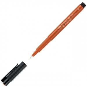 Faber-Castell® PITT® Artist Pen Sanguine Superfine: Brown, Orange, India, Pigment, Super Fine Nib
