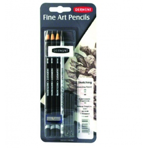 Derwent Sketching Pencil Mixed Media Set: Black/Gray, Drawing, (model 0700663), price per set