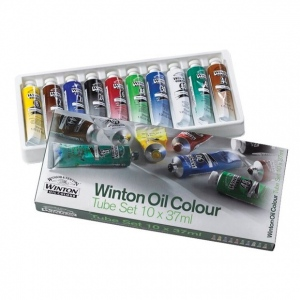 Winsor & Newton™ Winton Oil 10-Color Starter Set: Multi, Tube, 37 ml, Oil, (model 1490619), price per set