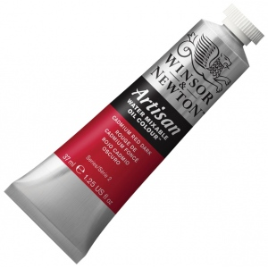 Winsor & Newton™ Artisan Water Mixable Oil Color 37ml Cadmium Red Dark: Red/Pink, Tube, 37 ml, Oil, (model 1514104), price per tube