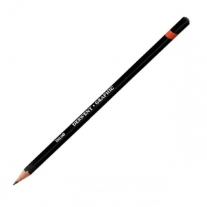 Derwent Graphic Pencil 3H Hard: Black/Gray, 3H, Drawing, (model 34186), price per each