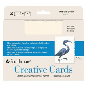 Strathmore® Ivory/Deckle Creative Cards