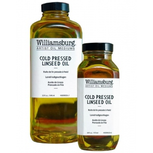 Williamsburg® Cold Pressed Linseed Oil 4 oz. Bottle: 4 oz, Linseed Oil, (model 6009026-4), price per each