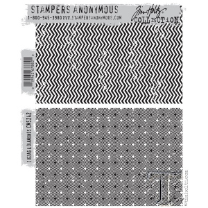 Stampers Anonymous - Tim Holtz - Zigzag & Diamonds Stamp Set