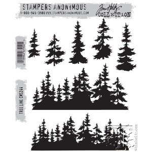 Stampers Anonymous - Tim Holtz - Tree Line Stamp Set