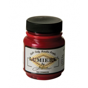 Lumiere® Pigmented Acrylic Paint Crimson: Red/Pink, Jar, 2.25 oz, Acrylic, (model J544), price per each