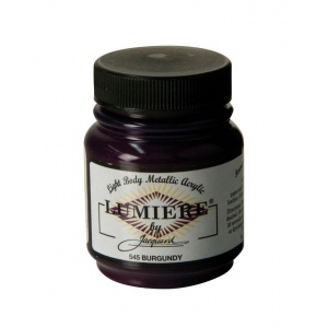 Lumiere® Pigmented Acrylic Paint Burgundy: Red/Pink, Jar, 2.25 oz, Acrylic, (model J545), price per each