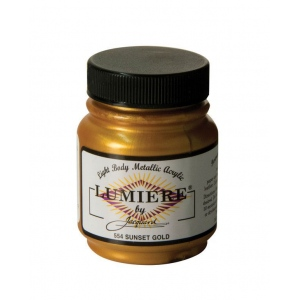 Lumiere® Pigmented Acrylic Paint Sunset Gold: Metallic, Jar, 2.25 oz, Acrylic, (model J554), price per each