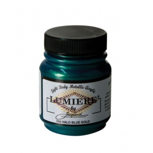 Lumiere® Pigmented Acrylic Paint Halo Blue Gold: Blue, Jar, 2.25 oz, Acrylic, (model J556), price per each