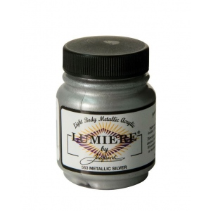 Lumiere® Pigmented Acrylic Paint Metallic Silver: Metallic, Jar, 2.25 oz, Acrylic, (model J563), price per each