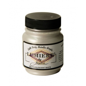 Lumiere® Pigmented Acrylic Paint Pearl White: Metallic, Jar, 2.25 oz, Acrylic, (model J568), price per each