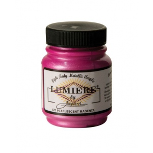 Lumiere® Pigmented Acrylic Paint Pearl Magenta: Red/Pink, Jar, 2.25 oz, Acrylic, (model J573), price per each