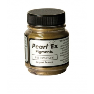 Pearl Ex Powdered Pigment Sunset Gold: Metallic, Jar, .75 oz, (model J665), price per each