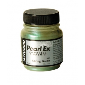 Pearl Ex Powdered Pigment Spring Green: Green, Jar, .5 oz, (model J685), price per each