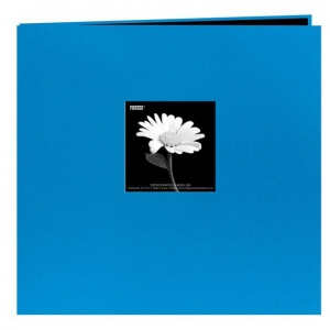 "Pioneer® 12 x 12 Fabric Frame Scrapbook Sky Blue: Blue, Fabric, 10 Page Protectors, 12"" x 12"", (model MB10CBF-SB), price per each"