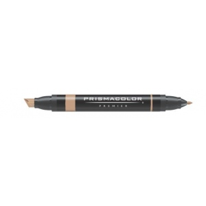Prismacolor® Premier Art Marker Light Tan: Brown, Double-Ended, Alcohol-Based, Dye-Based, Extra Broad Nib, Fine Nib, (model PM95), price per each