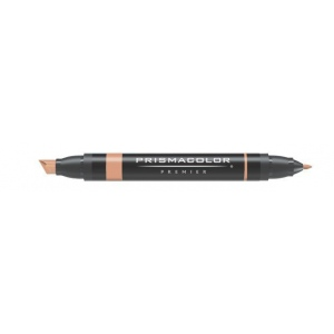 Prismacolor® Premier Art Marker Walnut: Brown, Double-Ended, Alcohol-Based, Dye-Based, Extra Broad Nib, Fine Nib