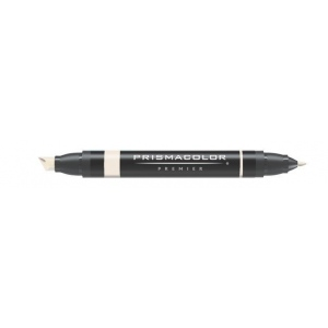 Prismacolor® Premier Art Marker Brick White: White/Ivory, Double-Ended, Alcohol-Based, Dye-Based, Extra Broad Nib, Fine Nib, (model PM79), price per each