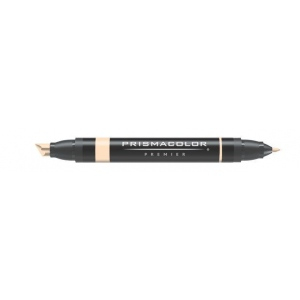 Prismacolor® Premier Art Marker Brick Beige: Brown, White/Ivory, Double-Ended, Alcohol-Based, Dye-Based, Extra Broad Nib, Fine Nib, (model PM78), price per each