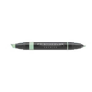 Prismacolor® Premier Art Marker Lime Green: Green, Double-Ended, Alcohol-Based, Dye-Based, Extra Broad Nib, Fine Nib, (model PM36), price per each