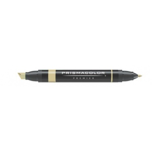 Prismacolor® Premier Art Marker Oatmeal: Brown, Double-Ended, Alcohol-Based, Dye-Based, Extra Broad Nib, Fine Nib