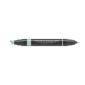 Prismacolor® Premier Art Marker Pale Jade: Green, Double-Ended, Alcohol-Based, Dye-Based, Extra Broad Nib, Fine Nib