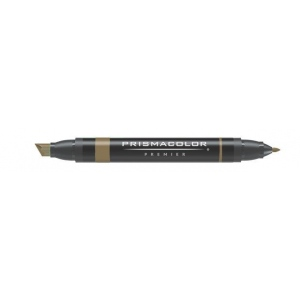 Prismacolor® Premier Art Marker Light Umber: Brown, Double-Ended, Alcohol-Based, Dye-Based, Extra Broad Nib, Fine Nib