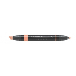 Prismacolor® Premier Art Marker Peach: Red/Pink, Double-Ended, Alcohol-Based, Dye-Based, Extra Broad Nib, Fine Nib, (model PM170), price per each