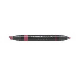 Prismacolor® Premier Art Marker Tuscan Red: Red/Pink, Double-Ended, Alcohol-Based, Dye-Based, Extra Broad Nib, Fine Nib, (model PM169), price per each