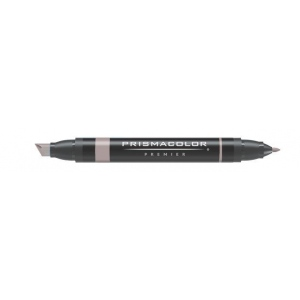 Prismacolor® Premier Art Marker French Gray 50%: Black/Gray, Double-Ended, Alcohol-Based, Dye-Based, Extra Broad Nib, Fine Nib, (model PM159), price per each