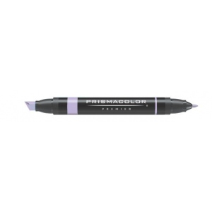 Prismacolor® Premier Art Marker Grayed Lavender: Black/Gray, Purple, Double-Ended, Alcohol-Based, Dye-Based, Extra Broad Nib, Fine Nib, (model PM147), price per each